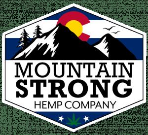 Official main lgo for Mountain Strong Hemp Company in Colorado, USA.