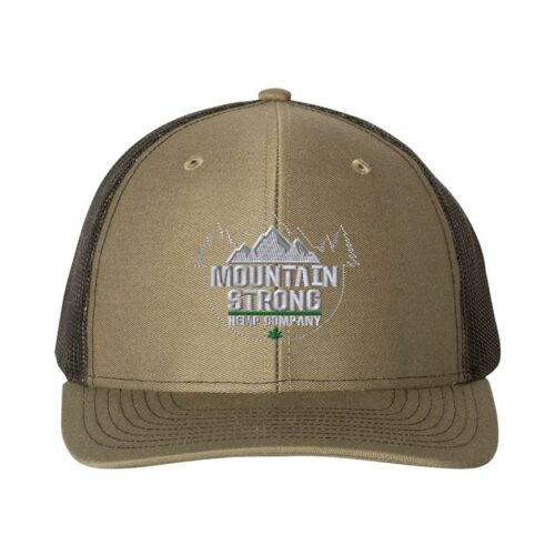 Mountain Strong Hemp Loden & Black Hat - Grey Logo