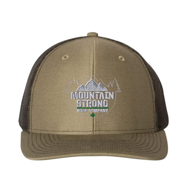 Mountain Strong Hemp Loden & Black Hat - Grey Logo