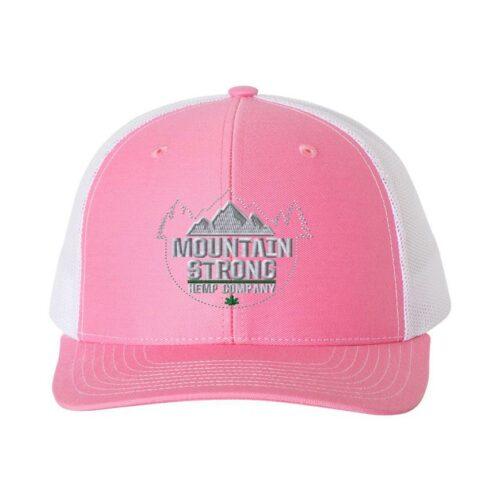 Mountain Strong Hemp - Pink & White Hat