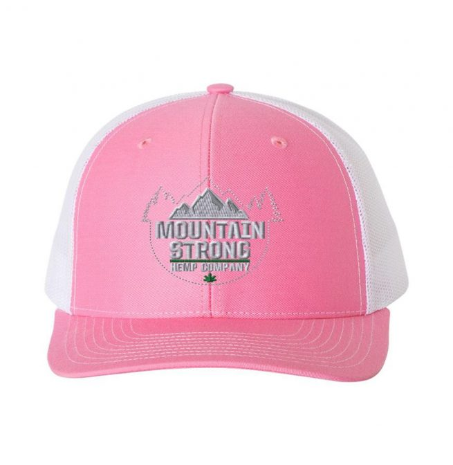 Mountain Strong Hemp - Pink & White Hat